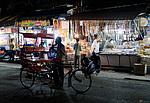 Rikša v nočním Amritsaru