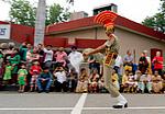 Indický voják ve Wagah-Attari