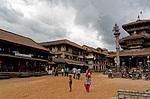 Náměstí před chrámem Dattatreya v Bhaktapuru