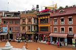 Nepál - Náměstí v Boudha