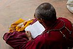 Boudhanath - Mnich s knihou