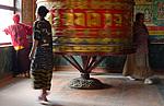 Boudhanath - Modlitební mlýn