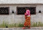 Boudhanath - Modlitební mlýnky