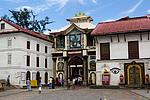 Nepál - Vstup do chrámu Pashupatinath