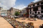 Nepál, Káthmándú, trh na Basantapuru
