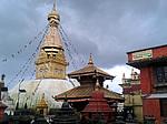 Nepál, Káthmándú, Swayambhunath opičí chrám