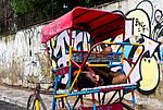 Indie - Spící rikšák v Novém Dillí
