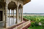 Indie - Pohled z pevnosti v Agře (Agra Fort)