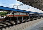 Indie - vlakové nádraží v Chandigarhu