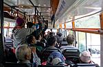 Indie - prázdný indický autobus