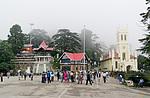 Indie - křesťanský kostel v Shimle