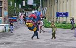 Indie - nosič nákladů v Shimle