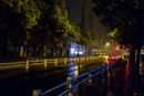 Noční ulice v Šanghaji