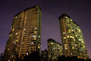 Čínské paneláky v noci